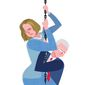 Illustration on the Clinton's imperiled political fortunes by Linas Garsys/The Washington Times