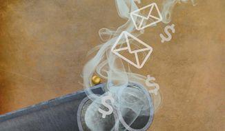 The Clinton Smoking Guns Illustration by Greg Groesch/The Washington Times