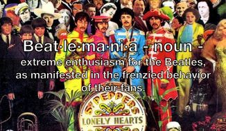 Beat·le·ma·ni·a - noun - extreme enthusiasm for the Beatles, as manifested in the frenzied behavior of their fans.