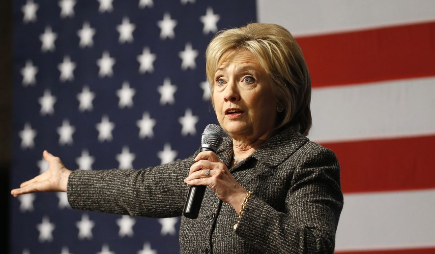 Democratic presidential candidate Hillary Clinton speaks during a campaign event at Iowa State University in Ames, Iowa, Tuesday, Jan. 12, 2016. (AP Photo/Patrick Semansky)