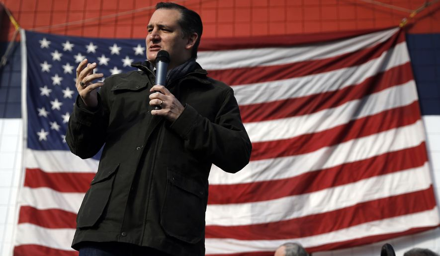 Republican presidential candidate Sen. Ted Cruz, R-Texas, speaks Tuesday, Jan. 12, 2016, during a campaign stop at Granite State Indoor Range in Hudson, N.H. (AP Photo/Matt Rourke)