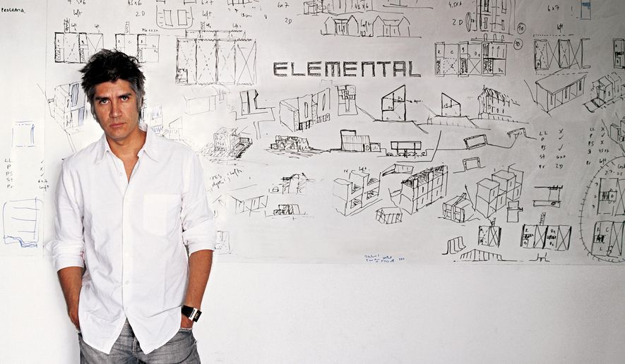 This image released by ELEMENTAL shows Chilean architect Alejandro Aravena. Arevena was named 2016 Pritzker Architecture Prize Laureate on Wednesday, Jan. 13, 2016. (Cristobal Palma/ELEMENTAL via AP)