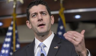 House Speaker Paul D. Ryan, who was the GOP's 2012 vice presidential nominee but took a pass on this year's presidential contest, said Republican infighting plays into the hands of President Obama, who exploits those fights to pursue his own agenda. (Associated Press)