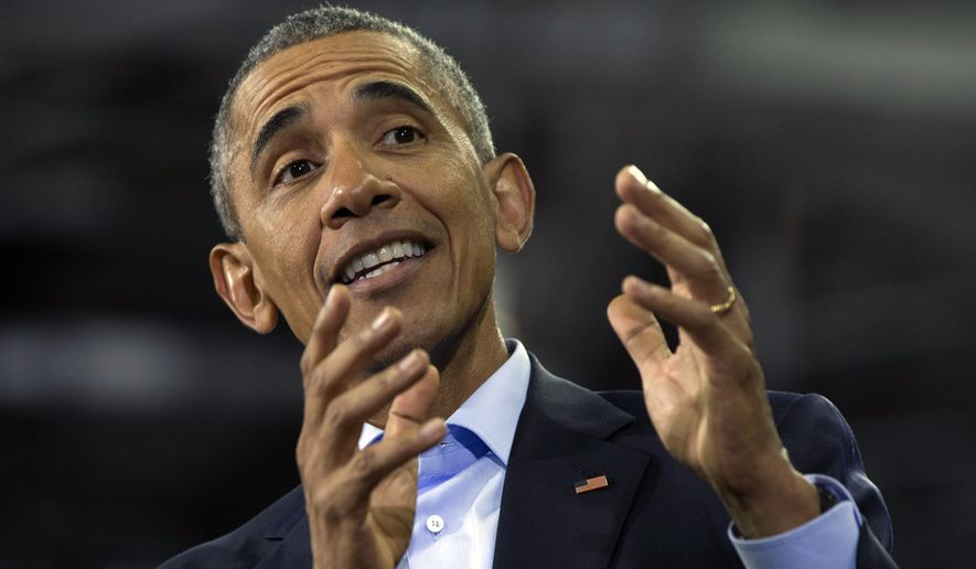 President Barack Obama speaks at University of Nebraska-Omaha, in Omaha, Neb., Wednesday, Jan. 13, 2016.  After giving his State of the Union address Obama is in Omaha to tout progress and goals in his final year in office. (AP Photo/Carolyn Kaster)