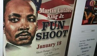 "Officials at Robins Air Force Base in Georgia have apologized for an event advertised as a ""Martin Luther King Jr. Fun Shoot,"" honoring the slain civil rights leader. (Air Force Times)"