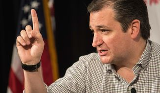 Republican presidential candidate, Sen. Ted Cruz, R-Texas, speaks at a Conservative Leadership Project presidential forum, Friday, Jan. 15, 2016, in Columbia, S.C. (AP Photo/Sean Rayford)