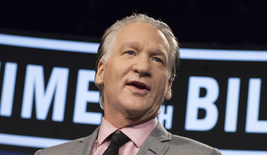 "This Jan. 25, 2013, file photo provided by HBO shows Bill Maher as he hosts ""Real Time with Bill Maher"" in Los Angeles. (AP Photo/HBO, Janet Van Ham, File)"