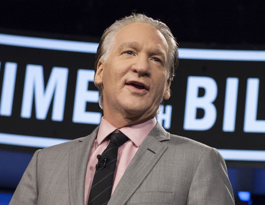"""This Jan. 25, 2013, file photo provided by HBO shows Bill Maher as he hosts """"Real Time with Bill Maher"""" in Los Angeles. (AP Photo/HBO, Janet Van Ham, File)"""