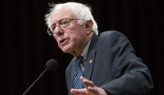 """""""This is a reason for the U.S. Justice Department to get involved,"""" Sen. Bernard Sanders said, arguing the investigations should begin automatically after a man or woman dies while being held by law enforcement. (Associated Press)"""