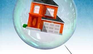 Return of the Housing Bubble Illustration by Greg Groesch/The Washington Times