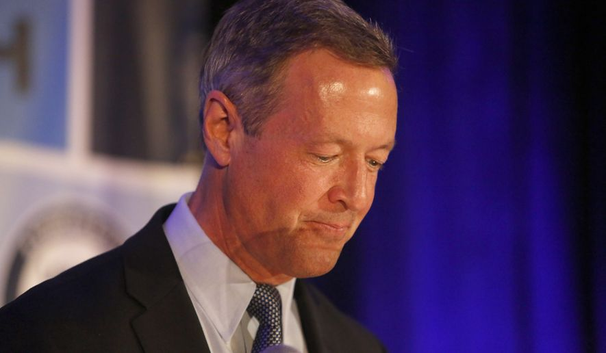Democratic presidential candidate, former Maryland Gov. Martin O'Malley, speaks during the First in the South Dinner at the Charleston Mariott Saturday, Jan. 16, 2016, in Charleston, S.C. (AP Photo/Mic Smith) ** FILE **