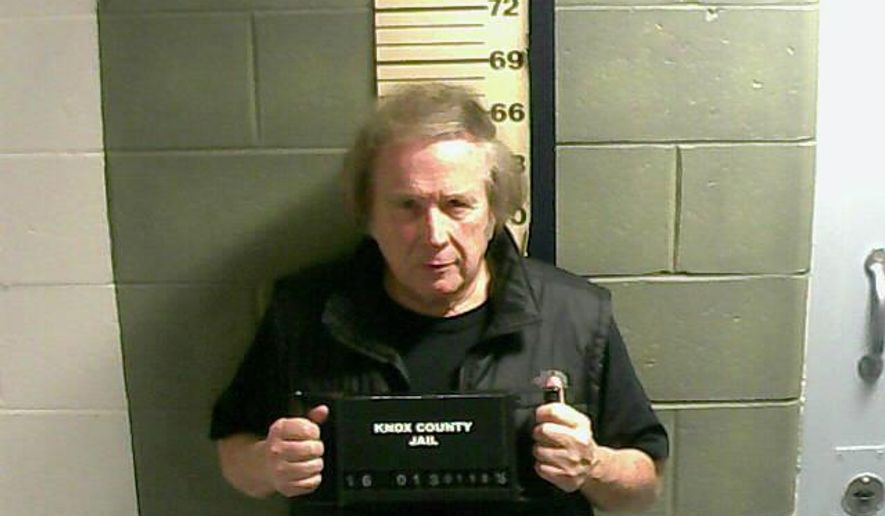 "This Monday, Jan. 18, 2016, photo provided by the Knox County Jail shows Don McLean. A jail supervisor said ""American Pie"" singer McLean bad been arrested on a misdemeanor domestic violence charge in Maine. (Knox County Jail via AP)"