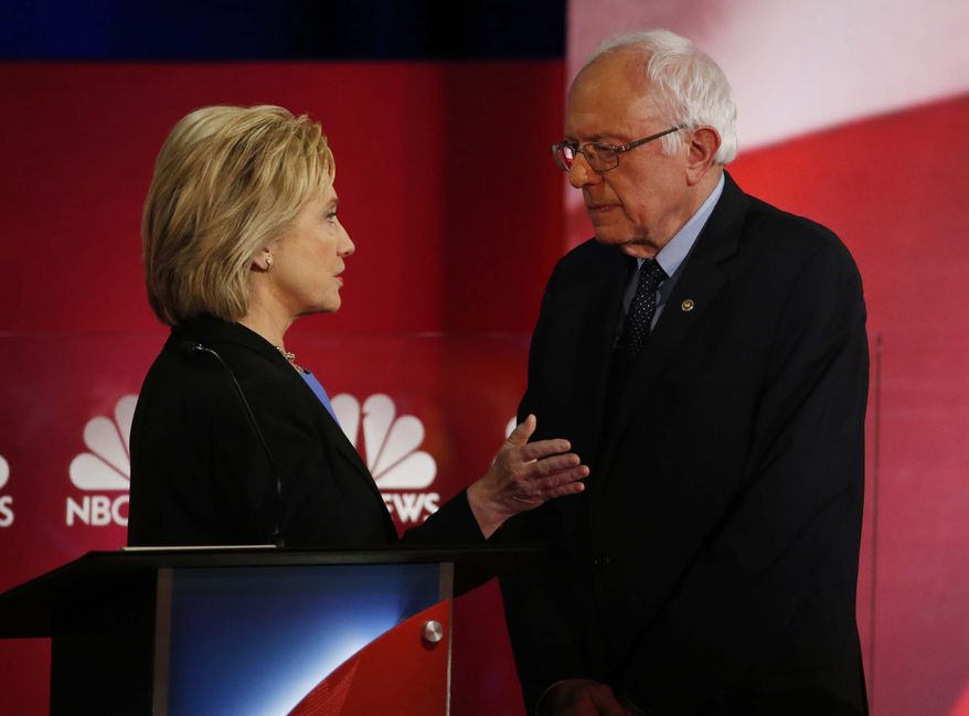 Some supporters of Sen. Bernard Sanders tell pollsters they doubt they could support Hillary Clinton, saying she's part of the very establishment the maverick Vermont senator is fighting against. (Associated Press)