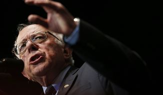 Democratic presidential candidate Sen. Bernie Sanders, I-Vt., speaks to supporters during a campaign stop, Monday, Jan. 18, 2016, in Birmingham, Ala. (AP Photo/Brynn Anderson)