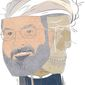 Illustration on the duplicity of Iranian President Hassan Rouhani by Linas Garsys/The Washington Times