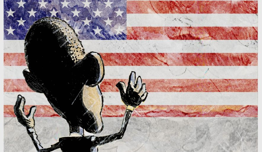 Illustration on the continued influence of Obama after he leaves office by Alexander Hunter/the Washington Times