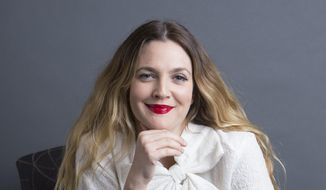 "Drew Barrymore poses for a portrait to promote her new book ""Wildflower,"" in New York, in this Oct. 20, 2015, file photo. (Photo by Amy Sussman/Invision/AP)"