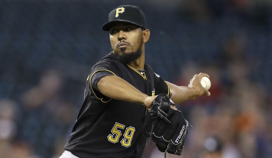 FILE - In this Tuesday, June 30, 2015 file photo, Pittsburgh Pirates relief pitcher Antonio Bastardo throws during the 11th inning of a baseball game against the Detroit Tigers in Detroit. A person familiar with the deal says free agent reliever Antonio Bastardo and the NL champion New York Mets have agreed to terms on a $12 million, two-year contract, Wednesday, Jan. 20, 2016.  (AP Photo/Carlos Osorio, File)