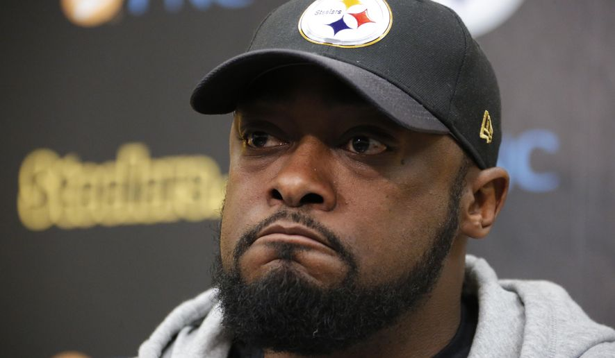 71c6112b7 Pittsburgh Steelers head coach Mike Tomlin holds his season-ending meeting  with the media at