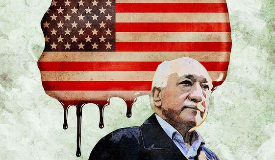 Gulen Plan to Destroy America Illustration by Greg Groesch/The Washington Times