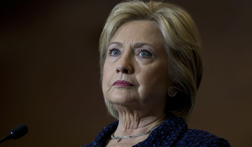 "A CNN survey conducted this month found that 55 percent of Democratic voters consider Hillary Clinton to be the ""least honest"" candidate in the race. (Associated Press)"