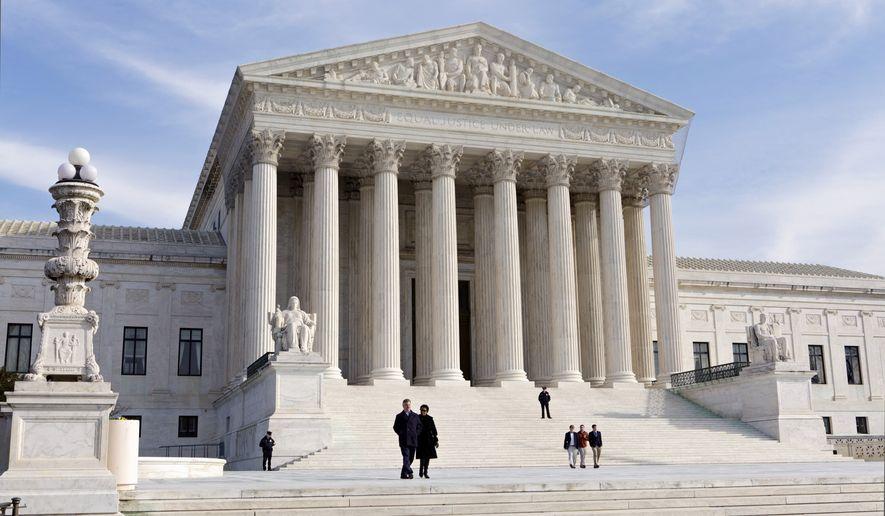 The U.S. Supreme Court Building in Washington. (AP Photo/J. Scott Applewhite, File)