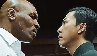 "Donnie Yen faces off with Mike Tyson in a scene from the new film ""Ip Man 3.""  (YouTube)"