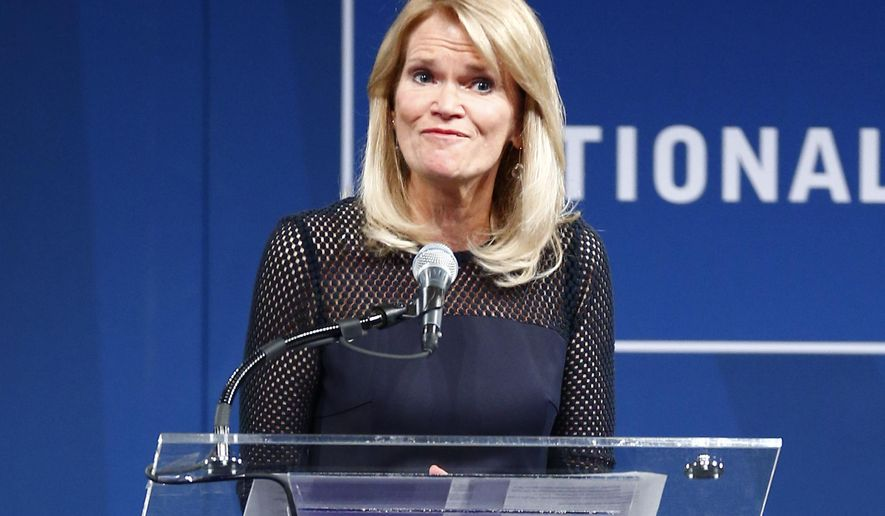 "FILE - In this Oct. 21, 2014 file photo, ABC News Chief Global Affairs Correspondent Martha Raddatz speaks during the Liberty Medal ceremony at the National Constitution Center in Philadelphia. ABC News is appointing Raddatz as co-anchor of the Sunday morning public affairs show ""This Week,"" where she alternates hosting weeks with George Stephanopoulos. (AP Photo/Matt Rourke, File)"