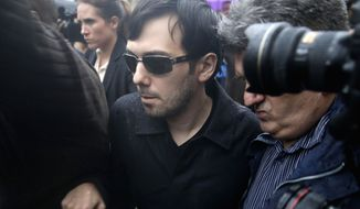In this Dec. 17, 2015, file photo, Martin Shkreli leaves the courthouse after his arraignment in New York. (AP Photo/Seth Wenig, File)