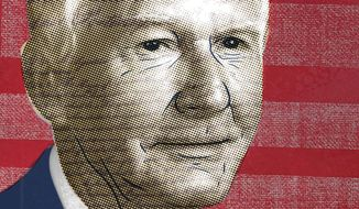Illustration of Forrest McDonald by Linas Garsys/The Washington Times