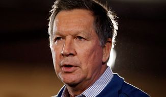 "Republican presidential candidate John Kasich of Ohio has stood his ground on support for Common Core and says ""it's time to move on"" from fighting same-sex marriage. (Associated Press)"