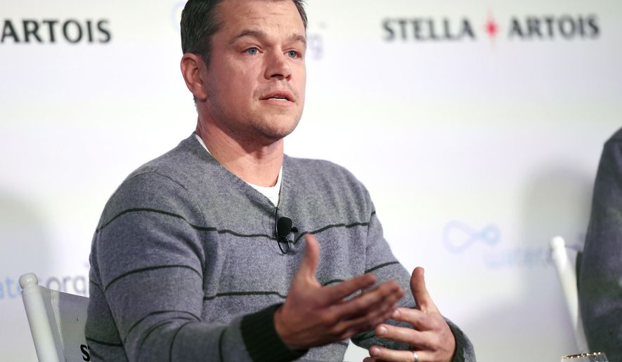 Actor Matt Damon, co-founder of Water.org, takes part in a panel discussion on the global water crisis during the 2016 Sundance Film Festival on Saturday, Jan. 23, 2016, in Park City, Utah. (Photo by Chris Pizzello/Invision/AP)