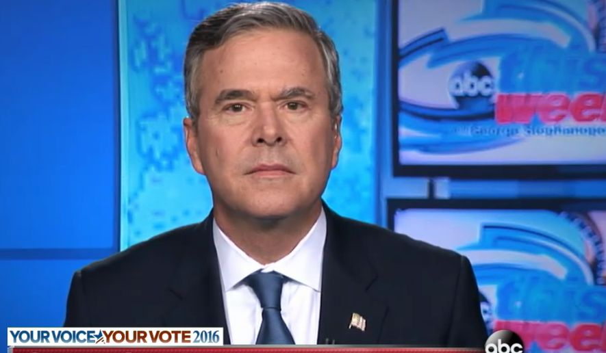 Jeb Bush appears to be going for a new image, as evidence by his appearance without glasses on ABC News. (ABC News)