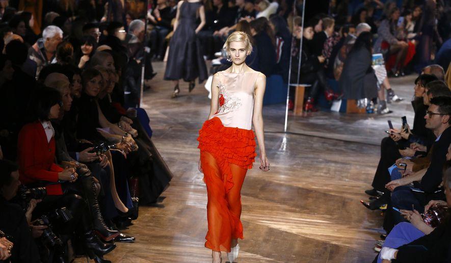 270afce0de84 A model wears a creation as part of Christian Dior's Spring-. A model  wears a creation as part of Christian Dior's Spring- Summer 2016 Haute  Couture ...