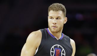 Los Angeles Clippers forward Blake Griffin (32), seen during the first half of an NBA basketball game against the Detroit Pistons, Monday, Dec. 14, 2015, in Auburn Hills, Mich. (AP Photo/Carlos Osorio)