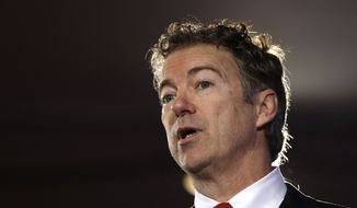 Former Republican presidential candidate, Sen. Rand Paul, R-Ky. speaks Saturday, Jan. 23, 2016, at the New Hampshire Republican Party summit in Nashua, N.H. (AP Photo/Matt Rourke) ** FILE **