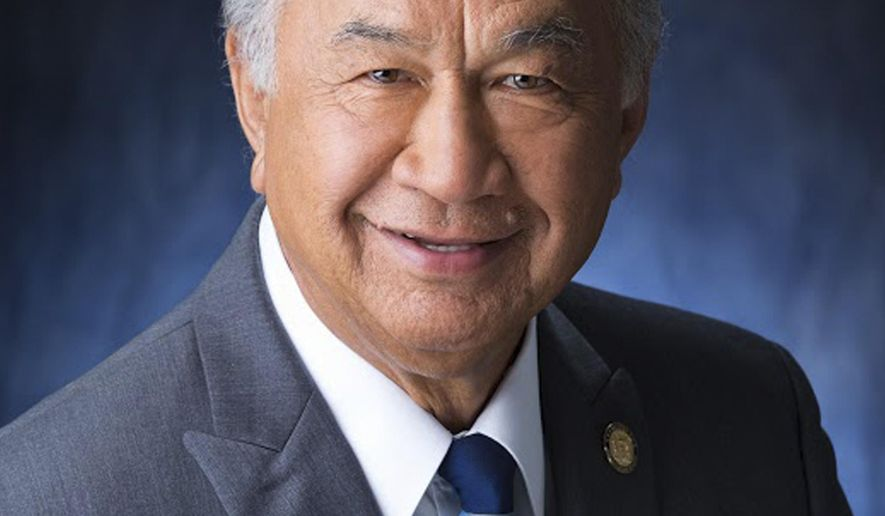 In this undated photo released by the Hawaii State Senate is Hawaii state Sen. Gilbert Kahele, a Democrat from Hilo, who was recalled as a big-hearted gentleman who cared deeply for his district. Kahele died on Tuesday, Jan. 26, 2016. (Hawaii State Senate via AP) MANDATORY CREDIT