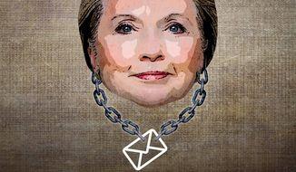 Hillary's Albatross Illustration by Greg Groesch/The Washington Times
