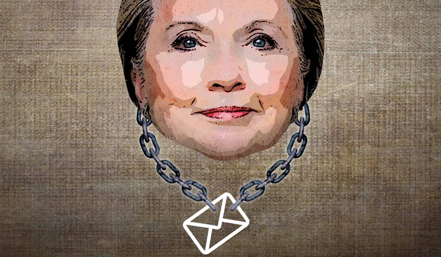 Hillary's Albatross Illustration by Greg Groesch/The Washington Times