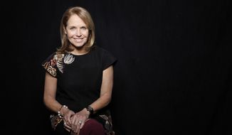 "Journalist Katie Couric poses for a portrait to promote the film, ""Under the Gun"", at the Toyota Mirai Music Lodge during the Sundance Film Festival on Tuesday, Jan. 26, 2016 in Park City, Utah. (Photo by Matt Sayles/Invision/AP)"