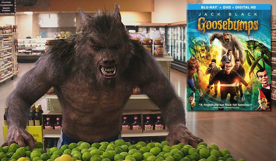 """""""Goosebumps,"""" now available on Blu-ray from Sony Pictures Home Entertainment, features a great looking werewolf."""