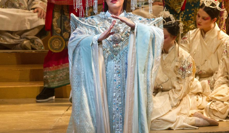 Puccinis last opera next up for met hd broadcast washington times this image released by the metropolitan opera shows nina stemme during a performance of amp altavistaventures Image collections