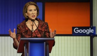 """If my husband did what Bill Clinton did, I would have left him long ago,"" Carly Fiorina said. (Associated Press)"