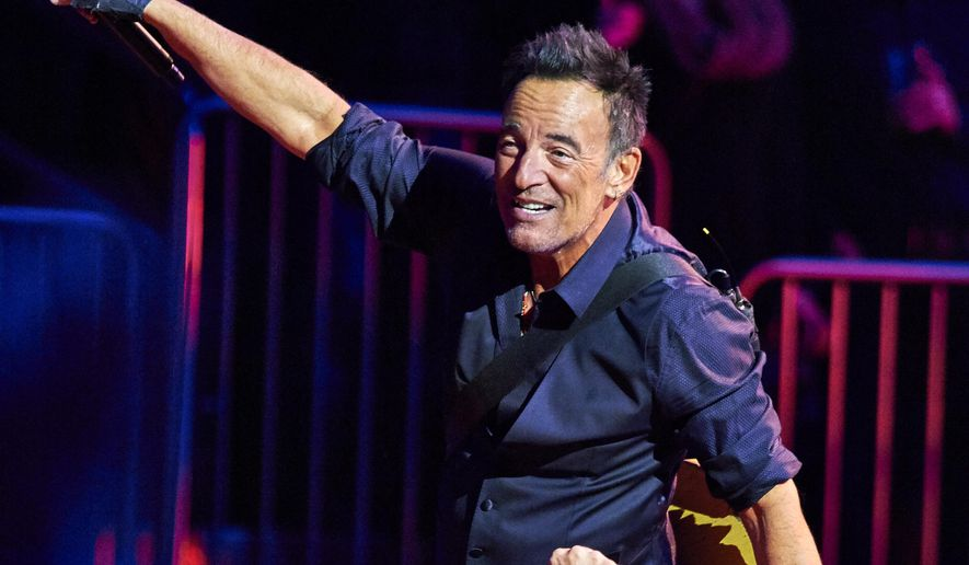 Bruce Springsteen performs with the E Street Band at Madison Square Garden, Wednesday, Jan. 27, 2016, in New York. (Photo by Robert Altman /Invision/AP)