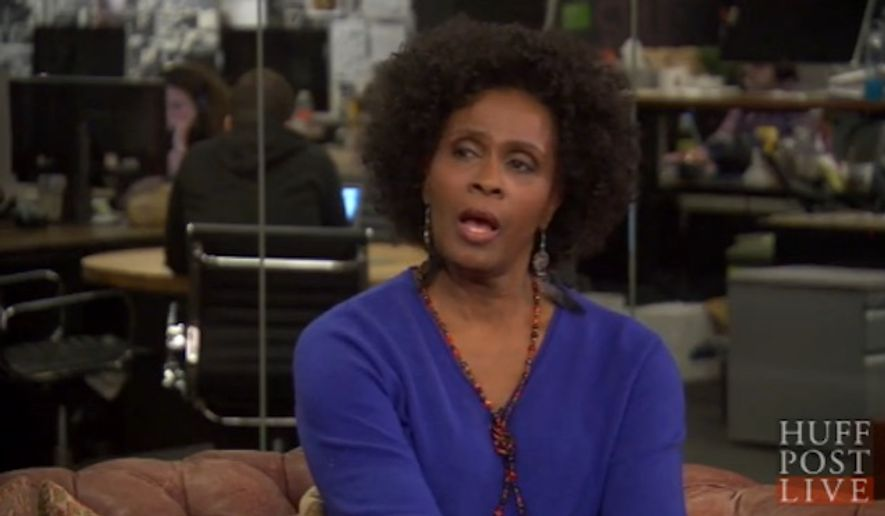 "Former ""Fresh Prince of Bel-Air"" star Janet Hubert compared fellow black actress and Fox News contributor Stacey Dash to a prostitute for her arguments against BET and Black History Month. (HuffPost Live)"
