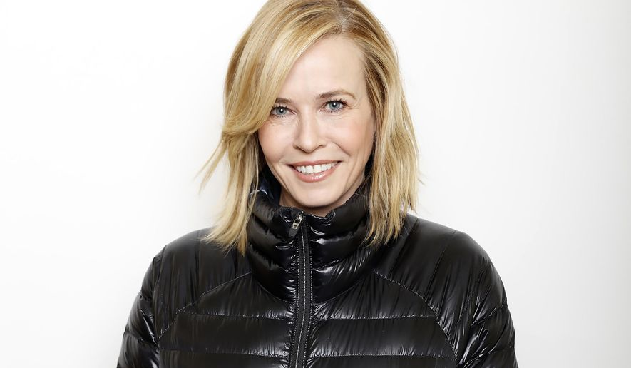 """FILE - In this Jan. 22, 2016 file photo, Chelsea Handler poses for a portrait to promote the film, """"Chelsea Does"""", at the Toyota Mirai Music Lodge during the Sundance Film Festival in Park City, Utah. Handler reveals her personal fears and biases in her new Netflix docu-series as she explores marriage, drugs, racism and technology.  (Photo by Matt Sayles/Invision/AP, File)"""