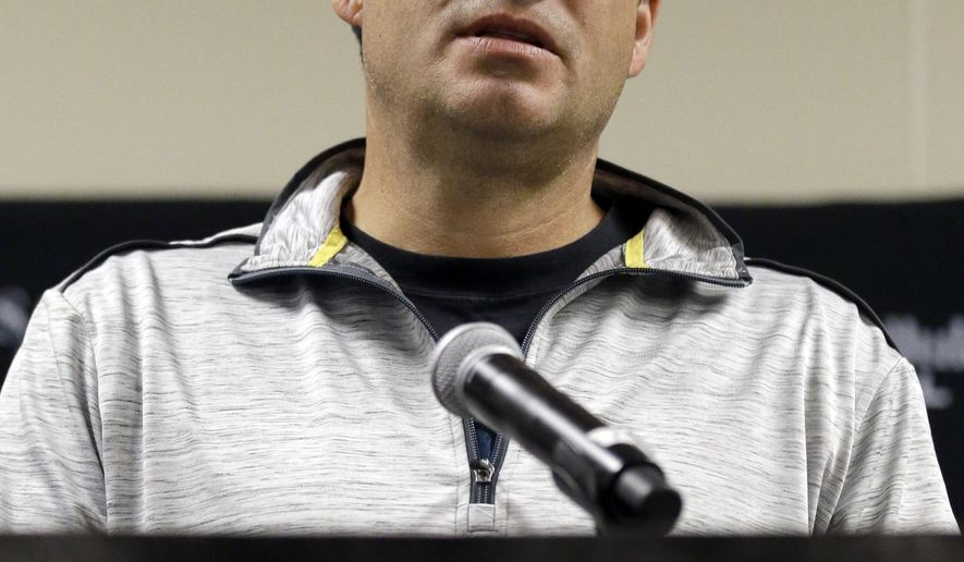 Chicago White Sox manager Robin Ventura speaks during media reception at the baseball team's annual fan convention, Friday, Jan. 29, 2016, in Chicago. (AP Photo/Nam Y. Huh)