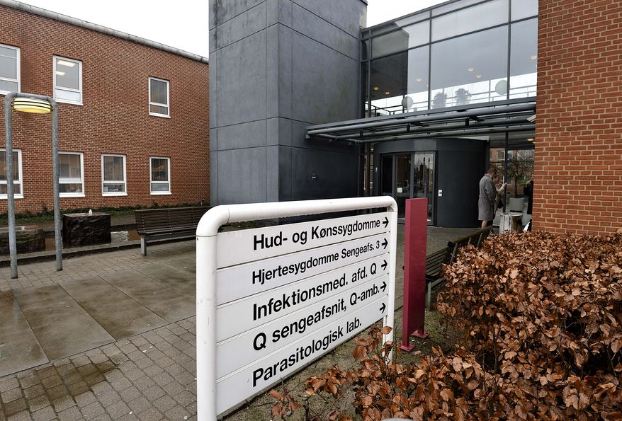 An entrance to the Aarhus University Hospital Wednesday, Jan. 27, 2016.  A Danish tourist has been infected by the Zika virus after visiting southern and central America, Danish hospital officials say, but authorities said Wednesday it was not the first case in Europe. In a statement Tuesday, the Aarhus University Hospital said the patient ran a fever, had a headache and muscle aches and was discovered as having the virus. (Ernst Van Norde/Polfoto via AP) DENMARK OUT
