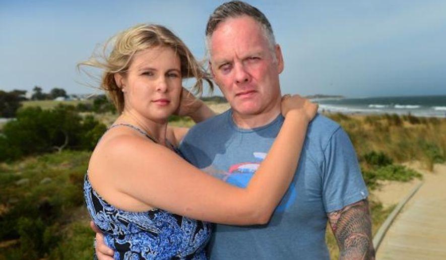 Kyle Tyrrell, 47 and his wife Liana. (Image: the Herald Sun)