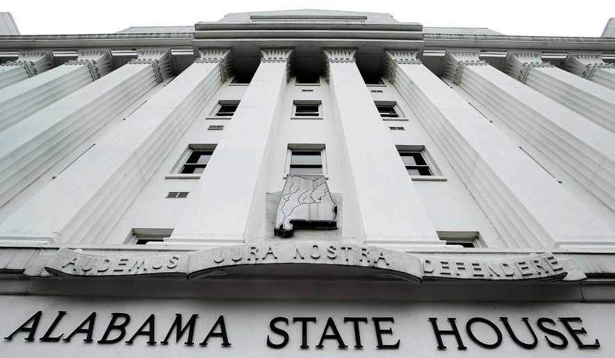 This photo taken June 7, 2012 shows the Alabama State House building. The Alabama legislature will begin it's session on Tuesday, Feb. 2, 2016, at the Alabama State House in Montgomery, Ala.(Mickey Welsh(/The Montgomery Advertiser via AP)